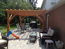 paver patio with pergola. Delighful With Before Sitting Wall With Fire Pit Paver Patio Pergola Inside Patio With Pergola A