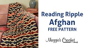 Ripple Afghan Pattern Free Gorgeous Reading Ripple Afghan Free Crochet Pattern Right Handed YouTube