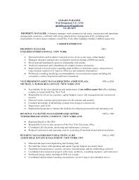 Property Manager Resume Templates Management In Regional Temp