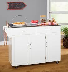 portable kitchen island ideas. Garrettsville Kitchen Island With Stainless Steel Top Portable Ideas