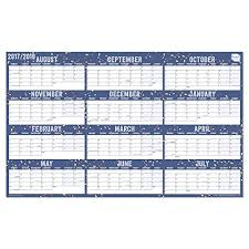 2017 2018 Academic Wall Planner Calendar Home Or Office Wall Chart Block Format Runs August 2017 To July 2018 Available Laminated Or Unlaminated