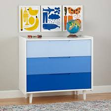 blue dresser for boy. Beautiful Blue Chromatic Ombre 3Drawer Dresser Blue In Dressers  The Land Of Nod Throughout Blue For Boy