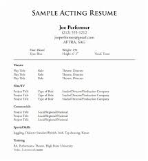 Theatre Resume Unique 28 Theatre Resume Template Ambfaizelismail
