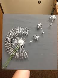 Floating Dandelion String Art Project