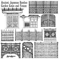 garden gates and fences. Ancient Japanese Bamboo Gates And Fences Garden