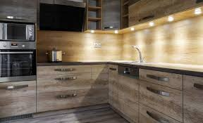 under cabinet lighting options. Kitchen With Wood Cabinets And Under Cabinet Lighting Options