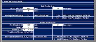Sales Per Day Formula Download Employee Productivity Calculator Excel Template