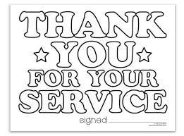 Free Veterans Day Coloring Pages Printable Thank You Pictures