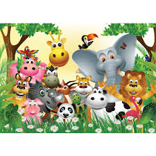 zoo wallpaper.  Zoo Mural Jungle Animals Party  Nonwoven Kids Wallpaper Nursery Jungle Zoo  Animals With Zoo Wallpaper S