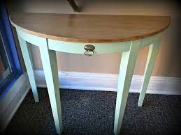 modern concept half circle entry table with semi circle entry table fresh vintage