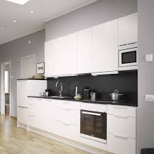 Modern White And Black Kitchen