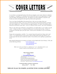 Samples Of General Cover Letters Sample General Cover Letter For