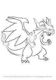 Small Picture Mega Charizard Drawing How To Draw Y From Pokemonjpg Coloring