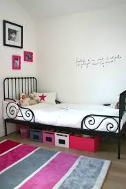 Wall Writing Decor Bedroom Colorful Area Rug Also Frames On White Wall For Girls