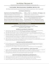 Resume Format For Paramedical Paramedic Resume Sample Resume Sample