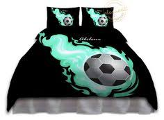 Girls Soccer Themed Comforter Set Purple Background and you can
