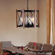 drum chandelier cylindrical glass shade