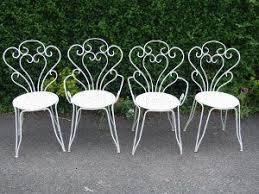white wrought iron furniture. vintage french wrought iron garden chairs white furniture