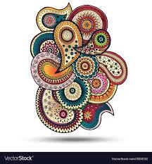 Graphic Design Paisley Henna Paisley Mehndi Doodles Design Element