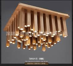 Creative personality living room ceiling light fixtures led square Wooden  Chinese-in Ceiling Lights from Lights & Lighting on Aliexpress.com    Alibaba Group