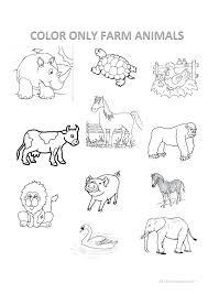Farm Animal Worksheets For Toddlers Preschoolers Animals Worksheet ...
