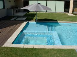 Extraordinary Square Pool Design Ideas : White Ceramic In Ground Swimming  Pool Feat Square Jacuzzi And