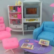 barbie furniture dollhouse. [Gloria] Gloria Barbie Size Dollhouse Furniture Family Room TV Couch Ottoman Zs-68