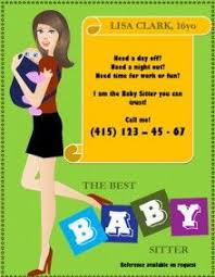 Make Your Own Flyers Online Free Free Babysitting Flyer Templates And Ideas Make Your Own