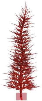 Amazing Ideas 5 Foot Artificial Christmas Tree Ashley Red With Red Artificial Christmas Trees