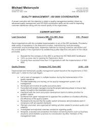 Qa Qc Resume Sample Best of Quality Assurance Resume Sample For Engineer With Table Examples To
