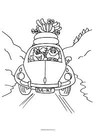 Kleurplaat Volkswagen Kever Skivakantie Sport