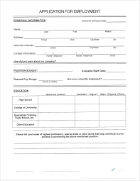 Blank Form Of Resumes Resume Blank Certificate Appointment Awesome Of Basic