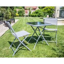 Ensemble pliable Table de jardin + 2 chaises Carry - Top Déco