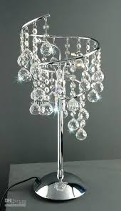 chandelier bedside table lamp crystal table lamp ideas for bridal shower