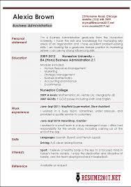 Business Administration Sample Resume Techtrontechnologies Com