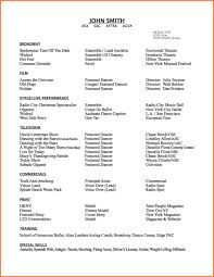 Dance Resumes Template Dance Resume Template Format Of 24 Dance Resume Template Free 22