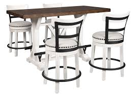 American Furniture Galleries Valebeck Brown Counter Height Dining