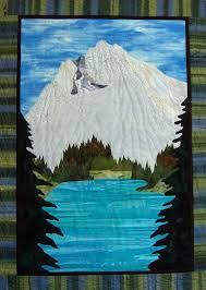 73 best Mountain Quilt ideas images on Pinterest   Mountain ... & Lakeside Mt Hood, 27 x 38