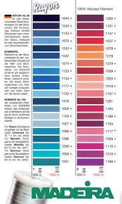 Madeira Embroidery Thread Colour Chart Maderia Rayon 40 Machine Embroidery Thread Colour Chart