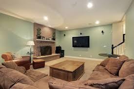 Green toned rec room  Basement Paint ColorsHouse Paint ColorsBright ...