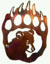 bear claw tattoo thinking about getting this on my thigh little bear cub in paw metal wall art  on metal bear head wall art with playful bear cubs metal wall sculpture scroll saw pinterest