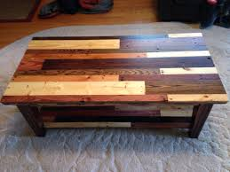 Wood Pallet Table Top Coffee Table Made From Pallet Wood Top View Showing Different