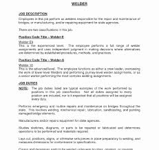 Old Fashioned Resume Examples For Welding Jobs Collection