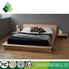 [Hot Item] Custom Made Modern Style Full Size Wood Platform Bed Frame with Drawers Storage Plans (ZBS-875)