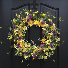 spring front door wreathsSummer Wreaths Yellow Daisy Wreath Summer Front Door