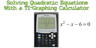how to use the graphing calculator to solve quadratic equations