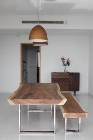 2.5 Meter Suar Table with Stainless Steel Legs x Herman Furniture Singapore