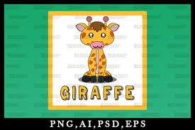 Giraffe svg giraffe print svg giraffe pattern svg cutting. Cute Kawaii Giraffe Animal Clipart 07 Graphic By Zerobbat Creative Fabrica