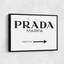 prada marfa wall art canvas print