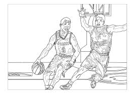 Sport Basketball Sport Coloring Pages For Kids To Print Color
